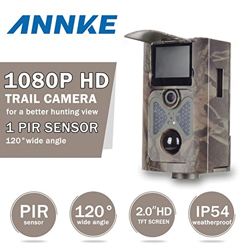 Annke Wide Angle 2.0 Inch 12MP 1080P HD 48 Pcs Invisible IR LEDs Infrared PIR Night Vision Outdoor IP54 Waterproof Wildlife Stealth Trail Hunting Game Camera Scouting Portable Spy Security Camera