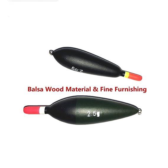 Amazon.com : Agape Assorted Balsa Float Freshwater Fishing Float Flotteur Pose Bobber Flotador 2.0G 2.5G Model 6412 Assort 10 pcs : Sports & Outdoors