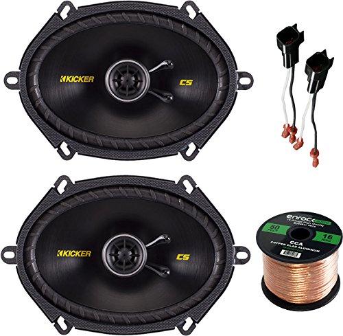 Car Speaker Set Combo Of 2 Kicker 40CS684 6x8