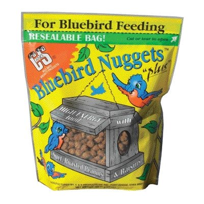 C & S Products Blue Bird Nuggets Plus Beef Suet,Corn,Peanuts,Raisins 27 Oz