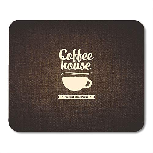 Boszina Mouse Pads Burlap Brown House with Cup of Coffee on Bag Cocoa Mouse Pad for notebooks,Desktop Computers mats 9.5