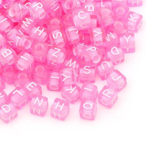Pink Acrylic Beads - 9