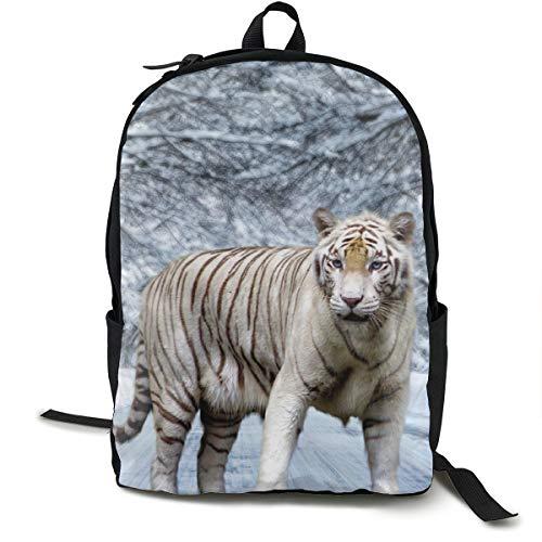 (Animal Tiger Printed School Backpack Lightweight Travel Rucksack Bag Laptop Backpack)