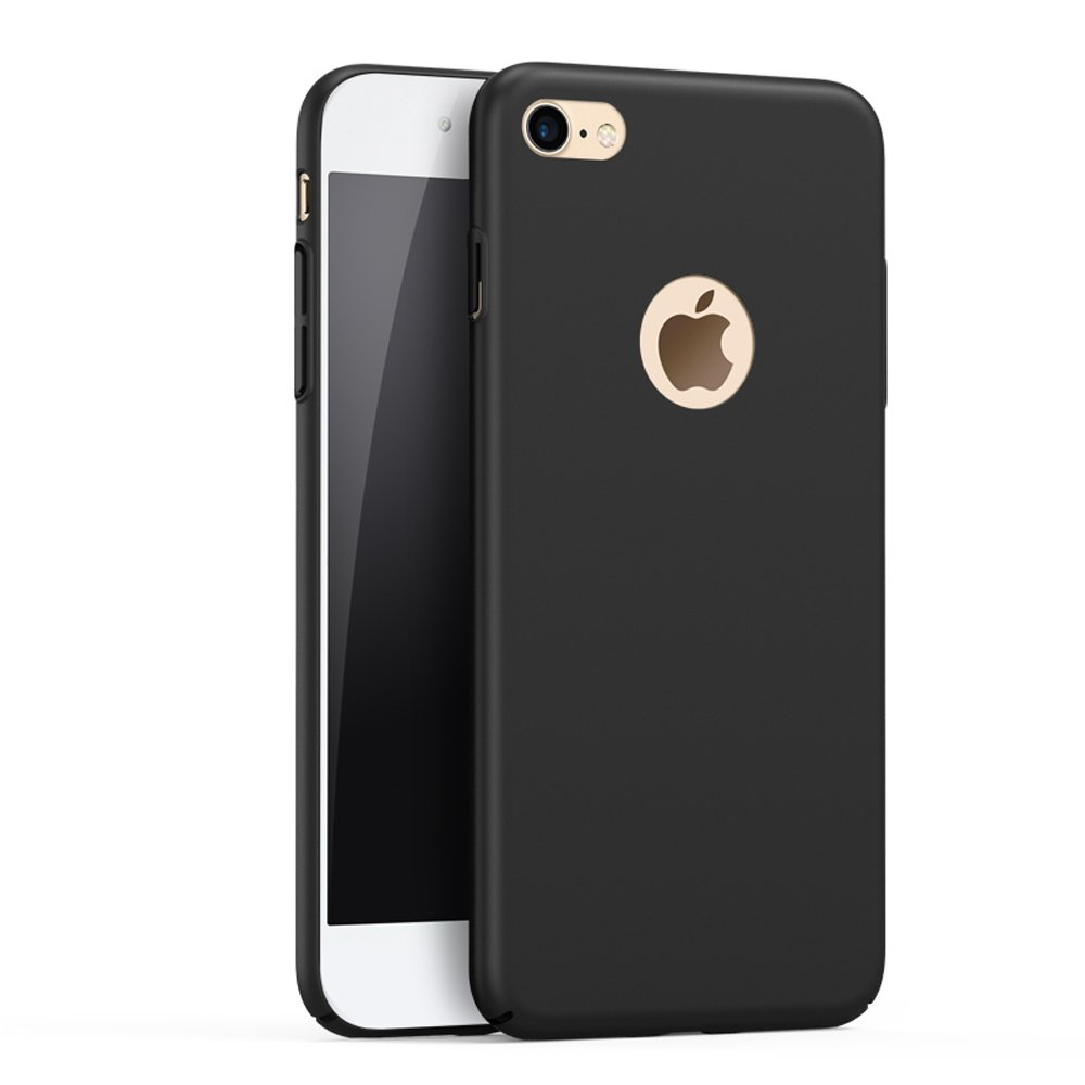 iPhone 8 Case, YIHAILU Smoothly Shield Skin Shockproof Thin Slim Protective Scratch Resistant Hard Cover Case for iPhone8 (Silky Black)