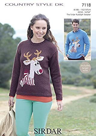 Sirdar Knitting Pattern 7118 Country Style Dk Adult Christmas
