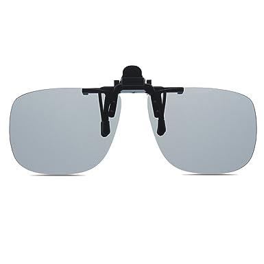 1a3ab3de20ea Wangly Photochromic Polarized Rimless Flip Up Clip On Sunglasses Fit Over  Wayfarer Prescription Glasses  Amazon.co.uk  Clothing