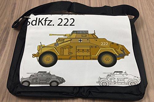 Borsa Tracolla Militare autoblindo Sd.Kfz. 221 Stampato