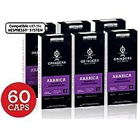 Grinders Coffee Nespresso Compatible Capsules, 60 Arabica Capsules