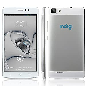 Indigi V19WH-CP15 GSM Unlocked DualSim Android 4.4 Smart Cell Phone, 5.5-inch 3G Speed, AT&T T-Mobile Straight Talk (White)
