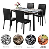 Faux Marble Dining Set for Small Spaces Kitchen 4