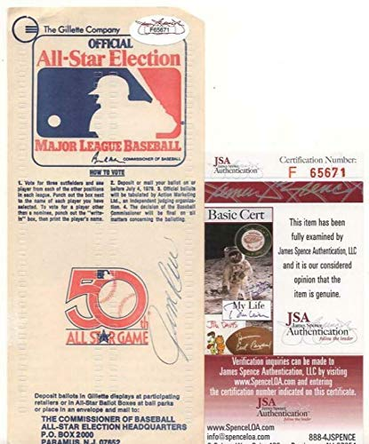 Rare 1979 All-star Game Ballot Signed By Jim Rice - JSA Certified - MLB Autographed Miscellaneous Items (1979 Mlb All Star Game)
