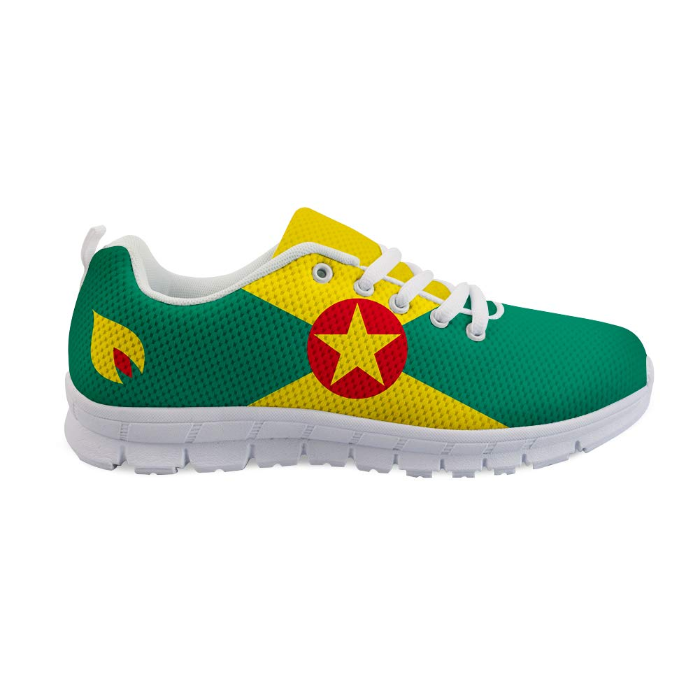 Owaheson Lace-up Sneaker Training Shoe Mens Womens Grenada Flag