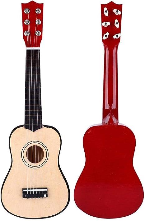 Alomejor Guitarra 21 Pulgadas Principiantes Tilo Guitarra Acústica ...