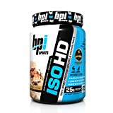 BPI Sports ISO HD 100% Whey Protein Isolate and Hydrolysate Powder, Peanut Butter Candy Bar, 1.63 Pound