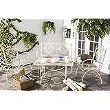 Safavieh Pat5001A Outdoor Set, Color Antique White, Pack of/Paquete de 4