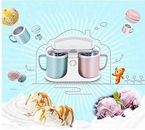 Atten Ice Cream Maker Broyeur de crème glacée Shaver Maker Machine à yogourt Machine à Milkshake Broyeur à Glace électrique Double capacité de Baril Deux Saveurs Iteration