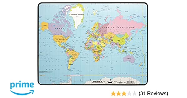 Amazon durable world map desk pad 15 34 x 20 34 inches amazon durable world map desk pad 15 34 x 20 34 inches multicolor 721119 office desk pads and blotters office products gumiabroncs Image collections