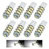 travel trailer led bulb - SAWE - T10 Wedge 921 194 25-3528 SMD LED Bulb lamp DC 12V for RV / Travel Trailer (8 pieces) (White)
