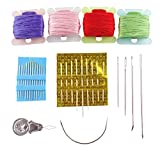 Embroidery Floss,100 Skeins Premium Rainbow Color Embroidery Threads Handmade Craft Floss Cross Stitch Threads Sewing Art Friendship Bracelet String  Embroidery Tools Kits