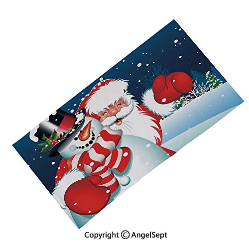 AngelScarf Outdoor Magic Headband Seamless Bandana Scarfs,Full Moon Night Sky Growling Werewolf Mythical Creature in Woods Halloween Dark Blue Black White,Multifunctional Sports Headwear]()
