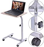 K&A Company Adjustable Laptop Table Stand Wooden Desk Portable Notebook Study Desk Computer Office Home Writing