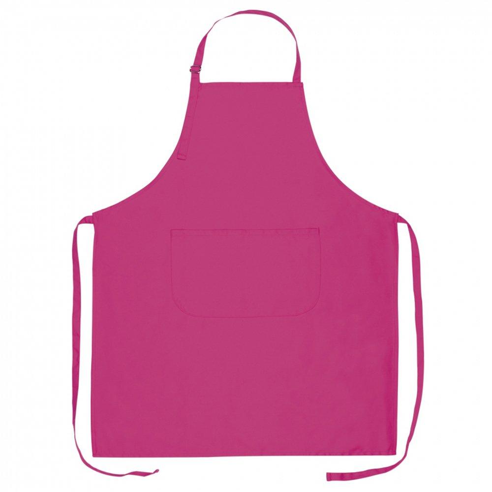 eBuyGB 10個入りキッチンフルサイズエプロン、綿、ピンク、70 x 85 cm   B079TZZK6J