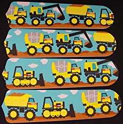 Ceiling Fan Designers 42SET-KIDS-MTCT Mighty Tonka Construction Trucks 42 in. Ceiling Fan Blades Only