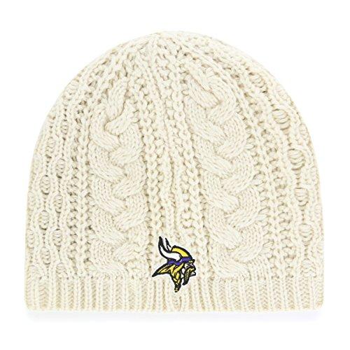 NFL Minnesota Vikings Women's Waco OTS Beanie Knit Cap, Natural, Women's (Nfl Womens Apparel)