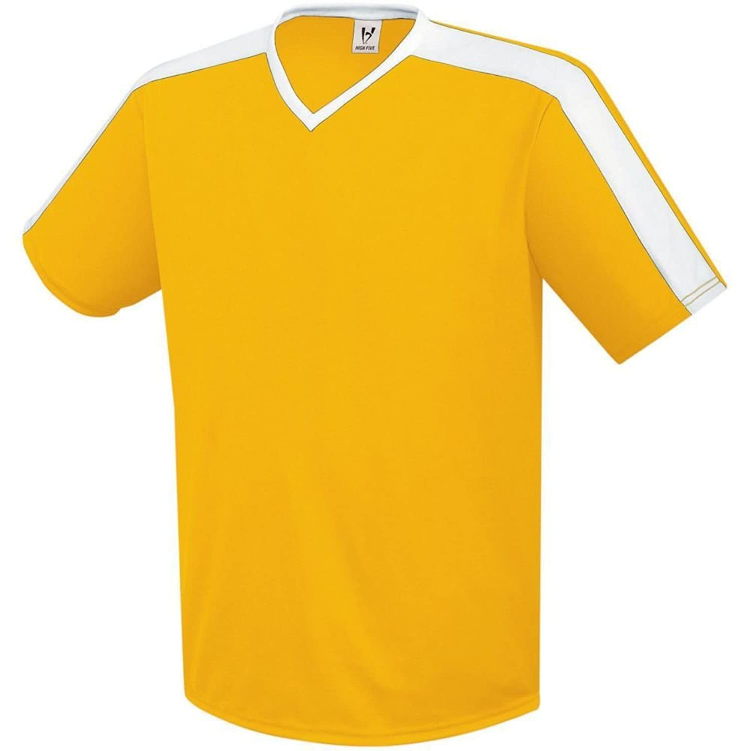 High Five Sportswear SHIRT ボーイズ B07CF7JX76Athletic Gold/White Small