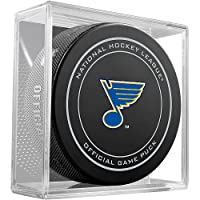 St. Louis Blues Sher-Wood Official Game Puck in Cube