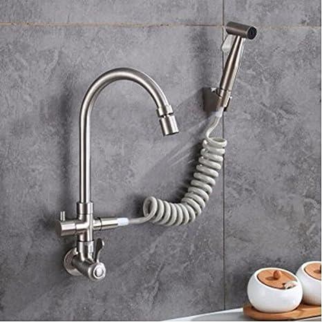 MBYW Grifos del lavabo del baño 304 de acero inoxidable 4 ...
