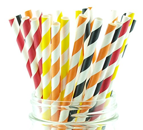 (Firefighter Party Straws (25 Pack) - Fire Truck Birthday Party Supplies, Fireman Paper Straws, Fire Engine Station Party)