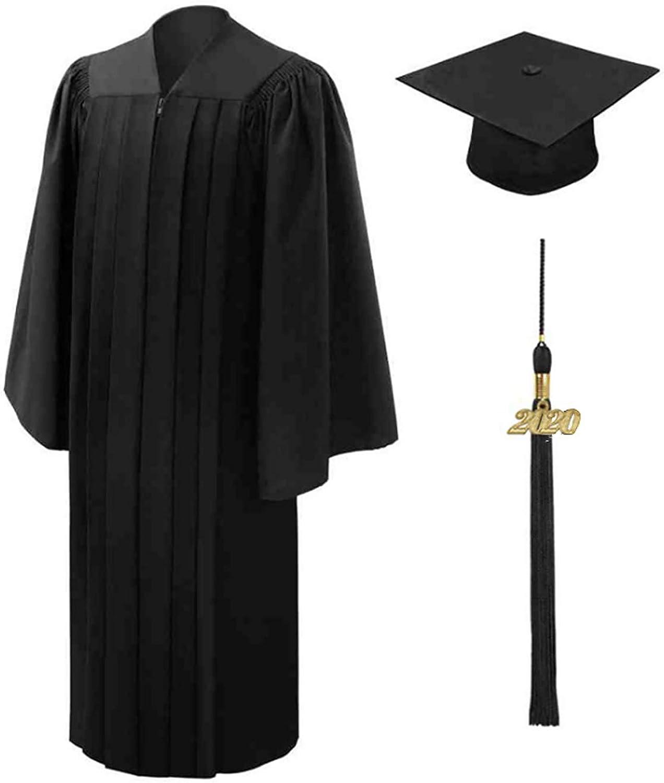 Amazon.com: papasgix Cap and Gown for Graduation 2020, Uniforms Matte  Graduation Robe Tassel Set for High School and Bachelor: papasgix: Clothing
