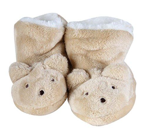 Bebé Niños De Invierno Patucos de peluche, diseño de ratón gris Talla:6 to 12 Months beige