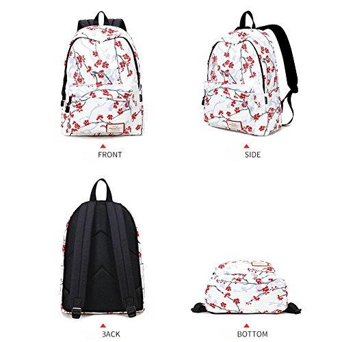 HQ Klassischer Rucksack Reisetasche Vintage Floral Frauen Mädchen Student Hochschule Schultasche Tasche Lässig Gepäck uBdjBxYiJ