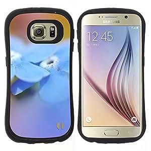 Hypernova Slim Fit Dual Barniz Protector Caso Case Funda Para Samsung Galaxy S6 [Fiore Blue Spring Natura]