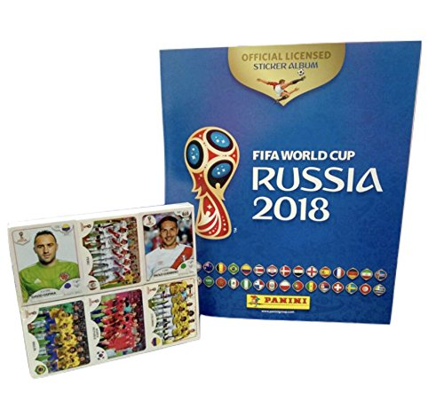 International Album (Panini Russia 2018 World Cup Official Licensed product Complete Sticker Collection + FREE Empty Hard Cover Album International Version)