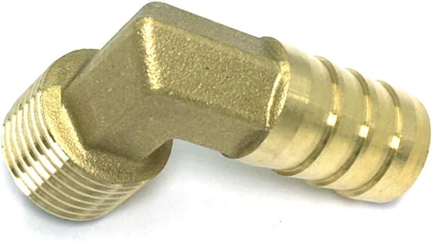dailymall Raccords de Coupleur /à Joint Rapide /à 90 Degr/és en Laiton en Forme de L Filetage 1//2 Pouce 20mm x 8mm