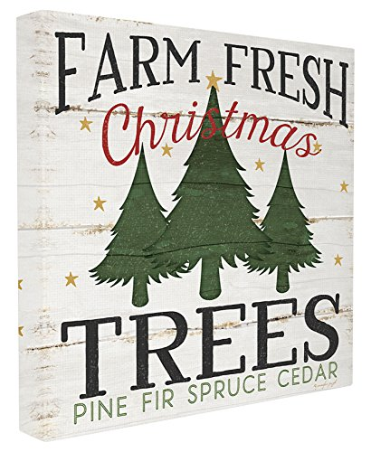 Stupell Industries Farm Fresh Christmas Trees Stretched Canvas Wall Art, Proudly Made in USA]()