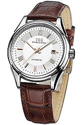 TSS Men's T5006QPM1 Quartz Luminous Watch with Leather Band