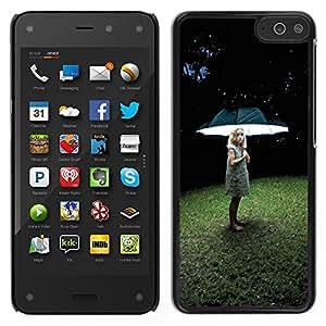 LECELL--Funda protectora / Cubierta / Piel For Amazon Fire Phone -- Muchacha ligera profundo hierba del verano --