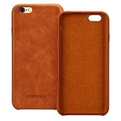 Jisoncase iPhone 6s Case Genuine Leather...