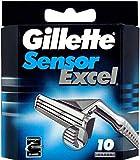 Gillett Sensor Excel Refill Blade Cartridges, 10 Ct.  (Packaging...