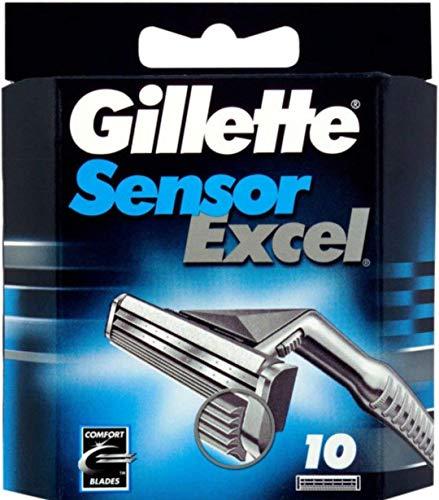 Mens Gillette Sensor Excel Refills - Gillett Sensor Excel Refill Blade Cartridges, 10 Ct.  (Packaging May Vary)
