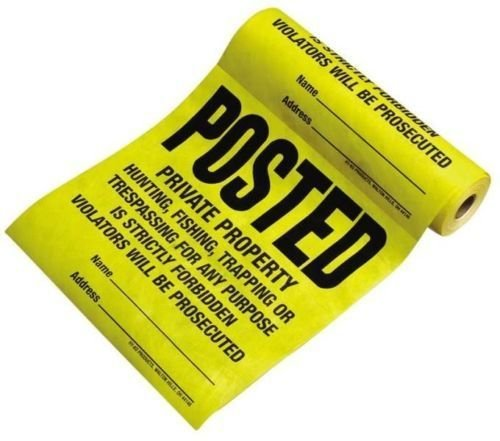 Hy-ko Tsr-100 Brand New 100 Count Roll Sign Tyvek Posted 12x12 Signs Sale (Sign Tyvek)