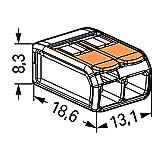 Wago 221-412 2-Conductor Compact Splicing