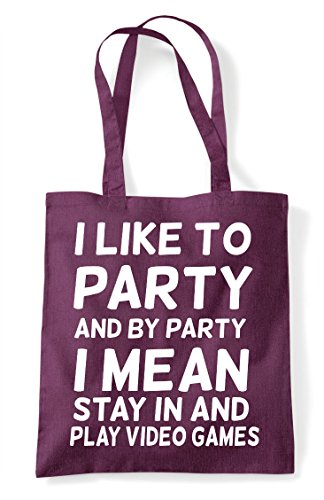 Like Play Mean By Shopper To Tote Video Party And Plum Games Statement Gaming I Bag YwdHTxY
