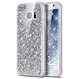 Appliances : Galaxy S7 Edge Case,Galaxy S7 Edge Bling Glitter TPU Case,PHEZEN Shiny Sparkling Glitter Hexagonal Star Flexible Soft Rubber Gel Clear TPU Cases Silicone Back Case for Samsung Galaxy S7 Edge (Silver)