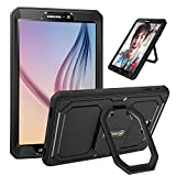 Fintie Case for Samsung Galaxy Tab A 10.1 - [Tuatara Magic Ring] 360 Rotating Multi-Functional Grip Stand Shockproof Cover Built-in Screen Protector for Tab A 10.1 Inch NO S Pen Version Tablet, Black