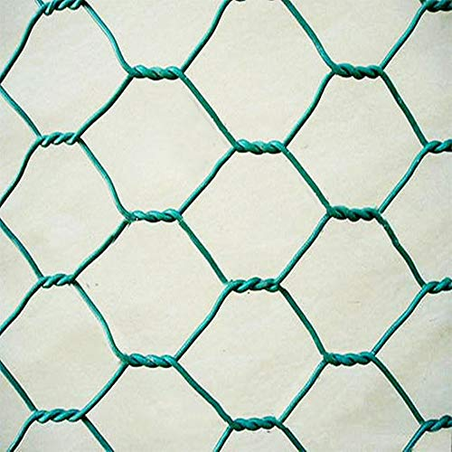 PURUIMA Hex Woven Wire Mesh, Poultry Fence Rabbit Fence Galvanized Wire Mesh, Green, 36 Inchx12 ()